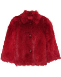 RED Valentino Reversible Shearling Jacket - Red