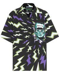Prada Bedrucktes Hemd aus Baumwolle - Schwarz