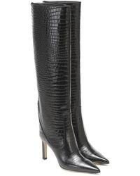 Jimmy Choo Mavis 85 Leather Knee-high Boots - Black
