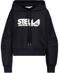Stella McCartney Sudadera de neopreno con logo - Negro