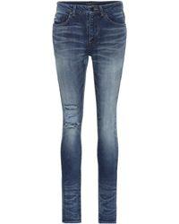 Saint Laurent - Distressed Skinny Jeans - Lyst