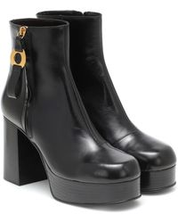 See By Chloé Ankle Boots aus Leder - Schwarz