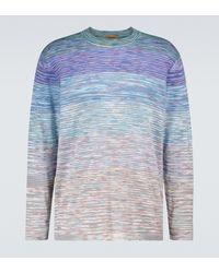 Missoni Gestreifter Pullover aus Baumwolle - Blau