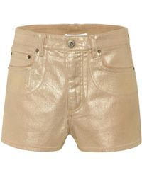 Chloé Exclusive To Mytheresa – Coated Denim Shorts - Natural