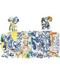 Dolce & Gabbana Majolica-print Cotton Top - Multicolour