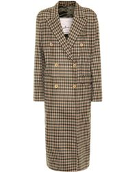 Giuliva Heritage Collection The Cindy Check Wool Coat - Brown