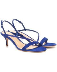 Gianvito Rossi Exclusive To Mytheresa – Manhattan 55 Suede Sandals - Blue