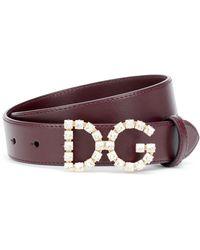 Dolce & Gabbana Ceinture en cuir à ornements - Multicolore