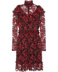 Ganni - Exclusive To Mytheresa.com – Flynn Ruffled Lace Dress - Lyst