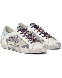 Golden Goose Deluxe Brand Sneakers Superstar aus Leder - Mettallic