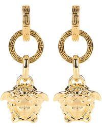 Versace Aretes con Medusa - Metálico