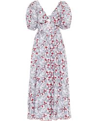 Gül Hürgel Printed Linen Dress - Grey
