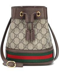Gucci Secchiello Ophidia Mini in tessuto GG Supreme - Neutro