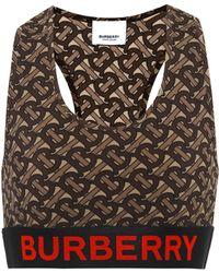 Burberry Tb Sports Bra - Brown