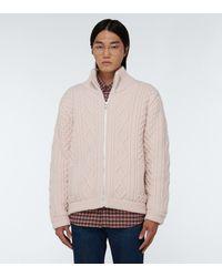 Gucci Pullover aus Wolle mit Zopfmuster - Weiß