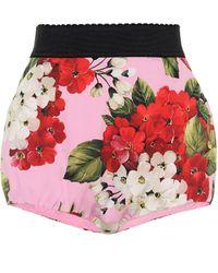 Dolce & Gabbana Shorts aus einem Seidengemisch - Mehrfarbig