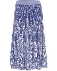 Baum und Pferdgarten Cyrilla Knit Midi Skirt - Blue