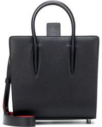 Christian Louboutin Paloma Small Leather Tote - Black