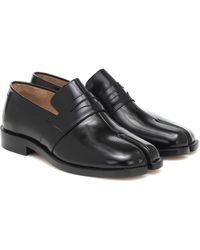 Maison Margiela Loafers Tabi aus Leder - Schwarz