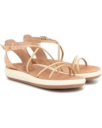 Ancient Greek Sandals Sandalias Anastasia de piel - Neutro
