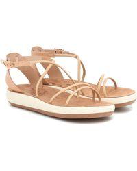 Ancient Greek Sandals Sandales Anastasia en cuir à plateforme - Neutre