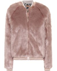 Mother - The Letterman Faux Fur Jacket - Lyst