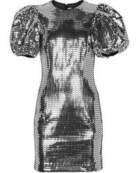 ROTATE BIRGER CHRISTENSEN Minikleid Rudy mit Pailletten - Mettallic