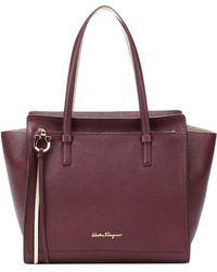 Ferragamo - Amy Medium Leather Shopper - Lyst