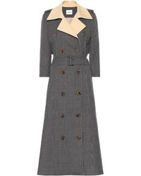Khaite - Charlotte Tweed Trench Coat - Lyst