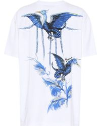 Givenchy Printed Cotton-jersey T-shirt - White