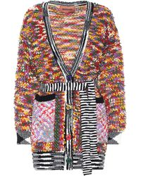 Missoni Wool-blend Belted Cardigan - Multicolour