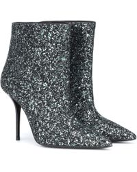 Saint Laurent - 95mm Pierre Glittered Ankle Boots - Lyst