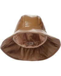 Nanushka Cameron Faux Leather Bucket Hat - Brown