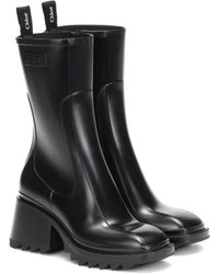 Chloé Betty Pvc Ankle Boots - Black