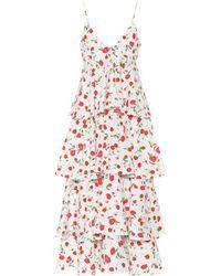Dodo Bar Or Sleeveless Floral-printed Dress - White