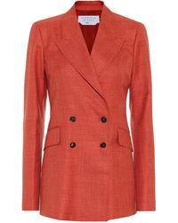 Gabriela Hearst Blazer Angela en mezcla de lana - Naranja