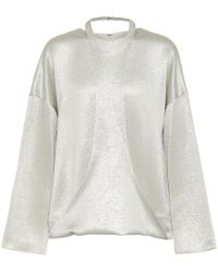 Valentino - Top in lamé - Lyst