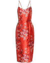 Johanna Ortiz El Dia Que Me Quieras Satin Dress - Red