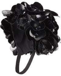 f60d0cc869e9 Miu Miu - Floral-embellished Hat - Lyst