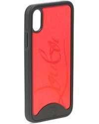 Christian Louboutin Loubiphone Iphone X- Und Xs-hülle Aus Pvc Mit Prägung - Rot