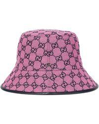 Gucci Hut GG aus Canvas - Pink