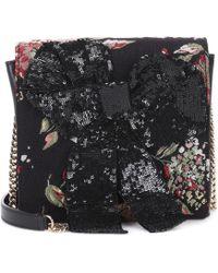 Rochas - Leather-trimmed Shoulder Bag - Lyst