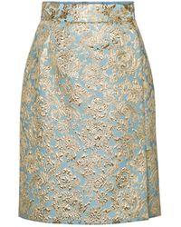 Dolce & Gabbana Minirock aus Brokat - Mehrfarbig