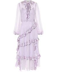 Temperley London Kleid Penny aus Seide - Lila