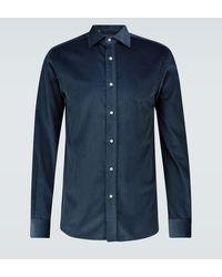 Ralph Lauren Purple Label Hemd aus Baumwollcord - Blau