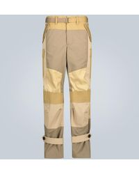 Sacai Parachute Trousers With Straps - Natural