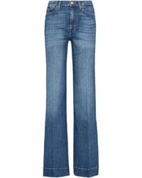 7 For All Mankind High-Rise Flared Jeans Modern Dojo - Blau