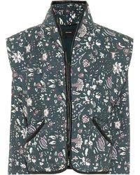 Isabel Marant Veste Anissaya en coton à fleurs - Vert