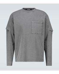 Jacquemus Le T-shirt Manches Longues Top - Grey