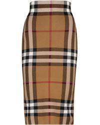 Burberry Vintage Check Jacquard Knit Skirt - Brown
